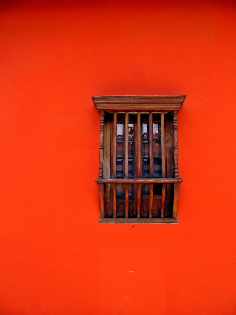 Ventana en La Candelaria Bogotá