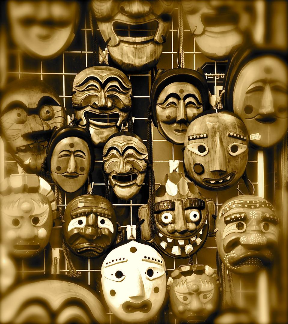 Vente de masques au detour d'une petite ruelle a Séoul