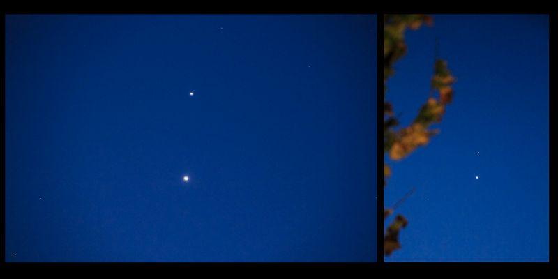 Venus, Jupiter & Mars
