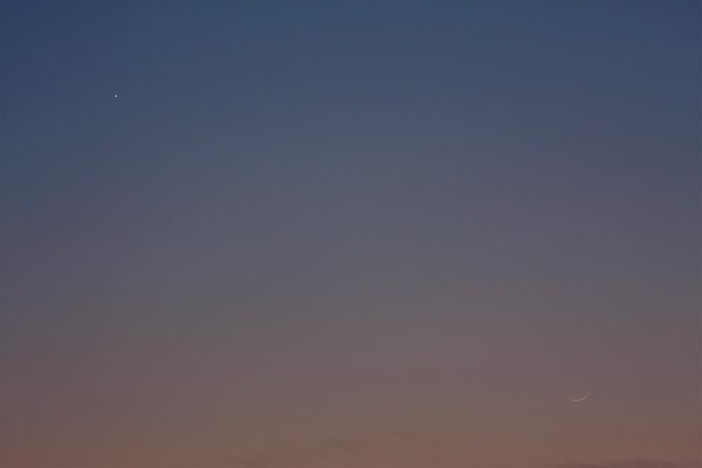 Venus, Merkur und Mond