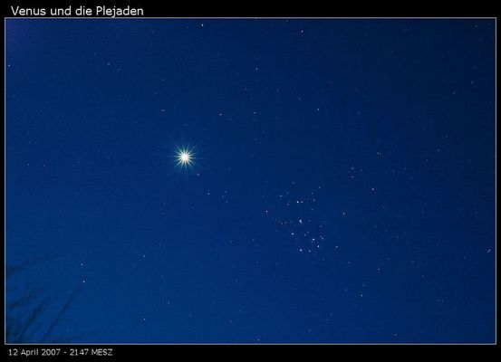 Venus und die Plejaden