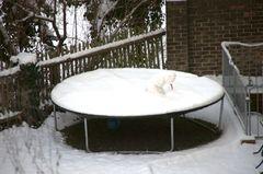 Verbeugung eines Schneemannes