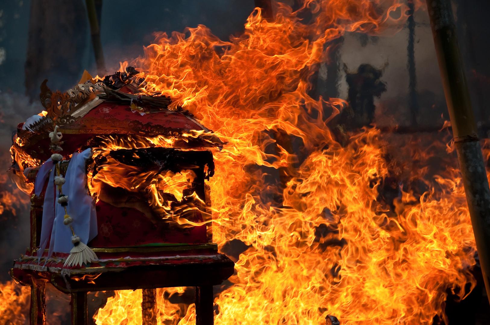Verbrennungszeremonie auf Bali