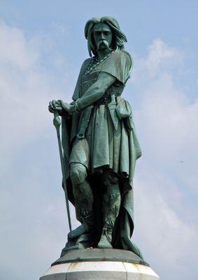 Vercingétorix, Site d'Alésia, Côte d'Or - Chef Gaulois - Statue d'Aimé Millet (6,60m de hauteur