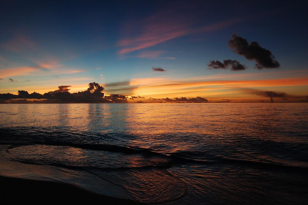 Verdeckter Sonnenuntergang