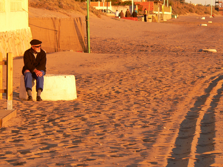verdiente Ruhe am Strand