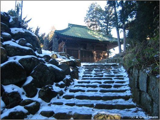 Vereiste Stufen zum Tempel