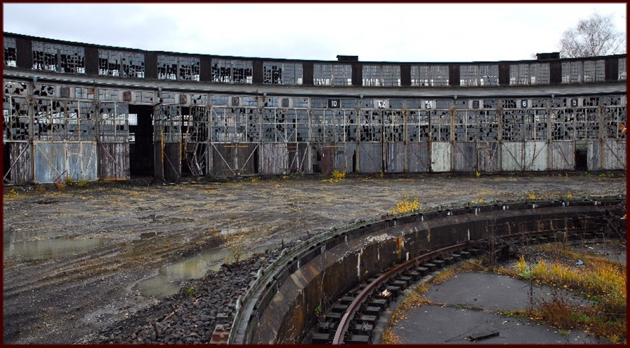 Verfall des alten Bahnbetriebswerkes in Fulda