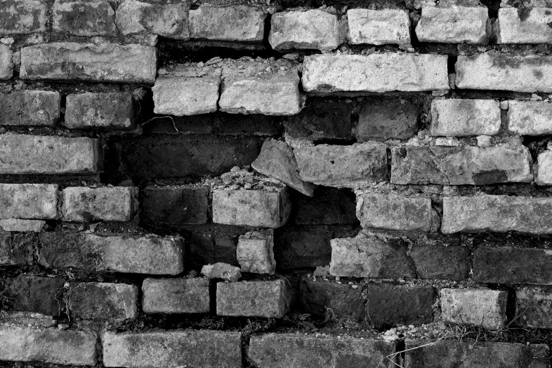 verfallene Mauer