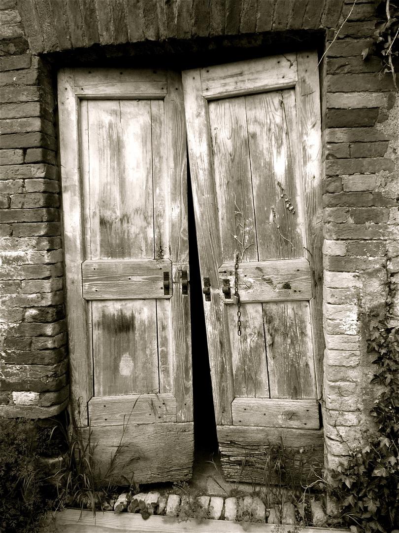 vergangene Tür