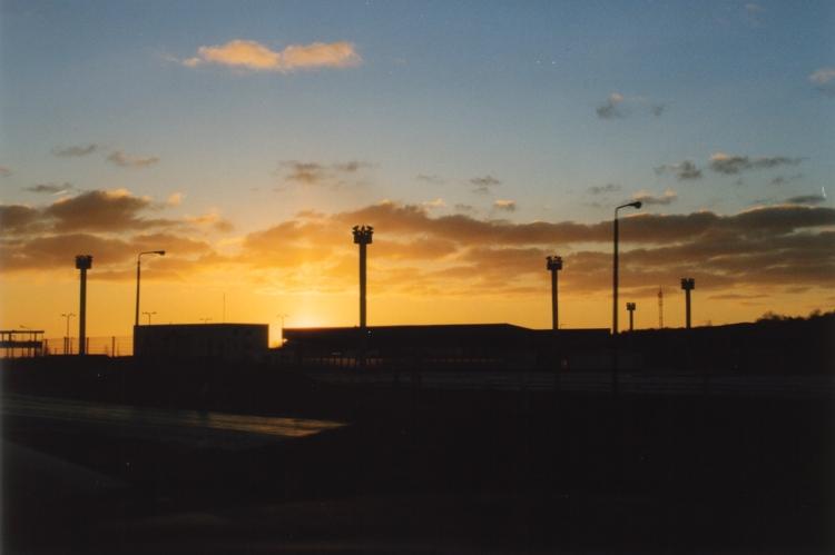 Vergangenheit im Sonnenaufgang