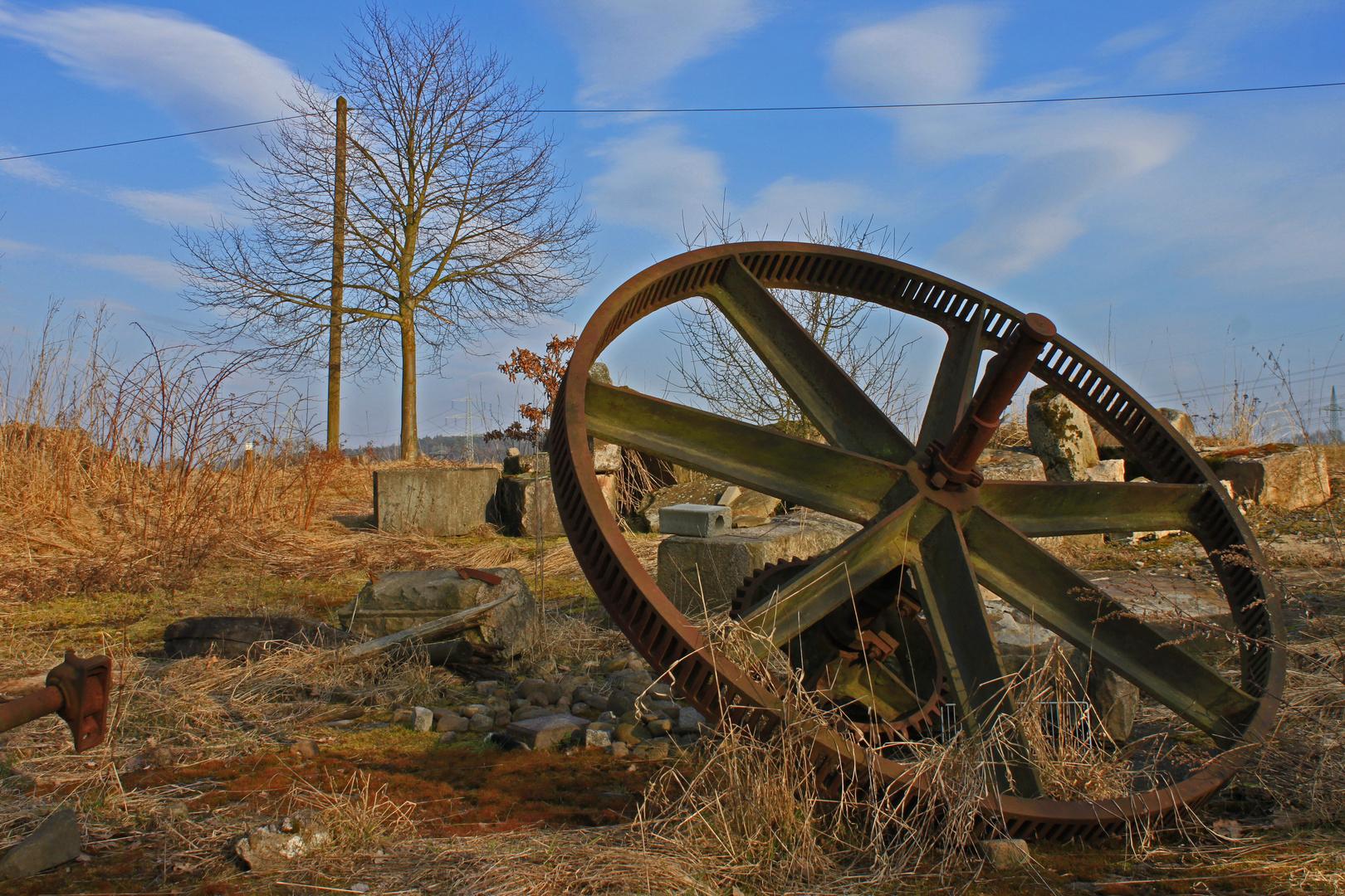 Vergessene Technik... Teil einer Mühle