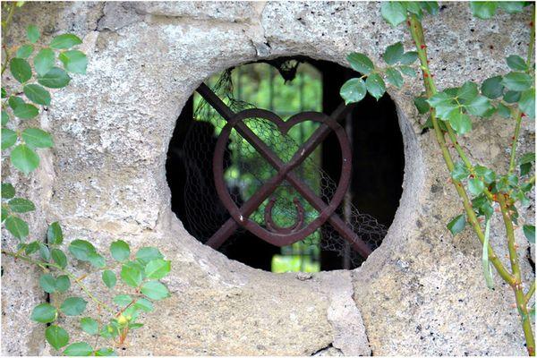 vergessenes Kellerfenster auf Schloss Kornberg