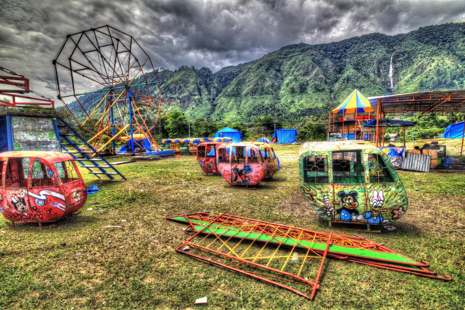 Vergnügungspark in Tomok (Indonesien)