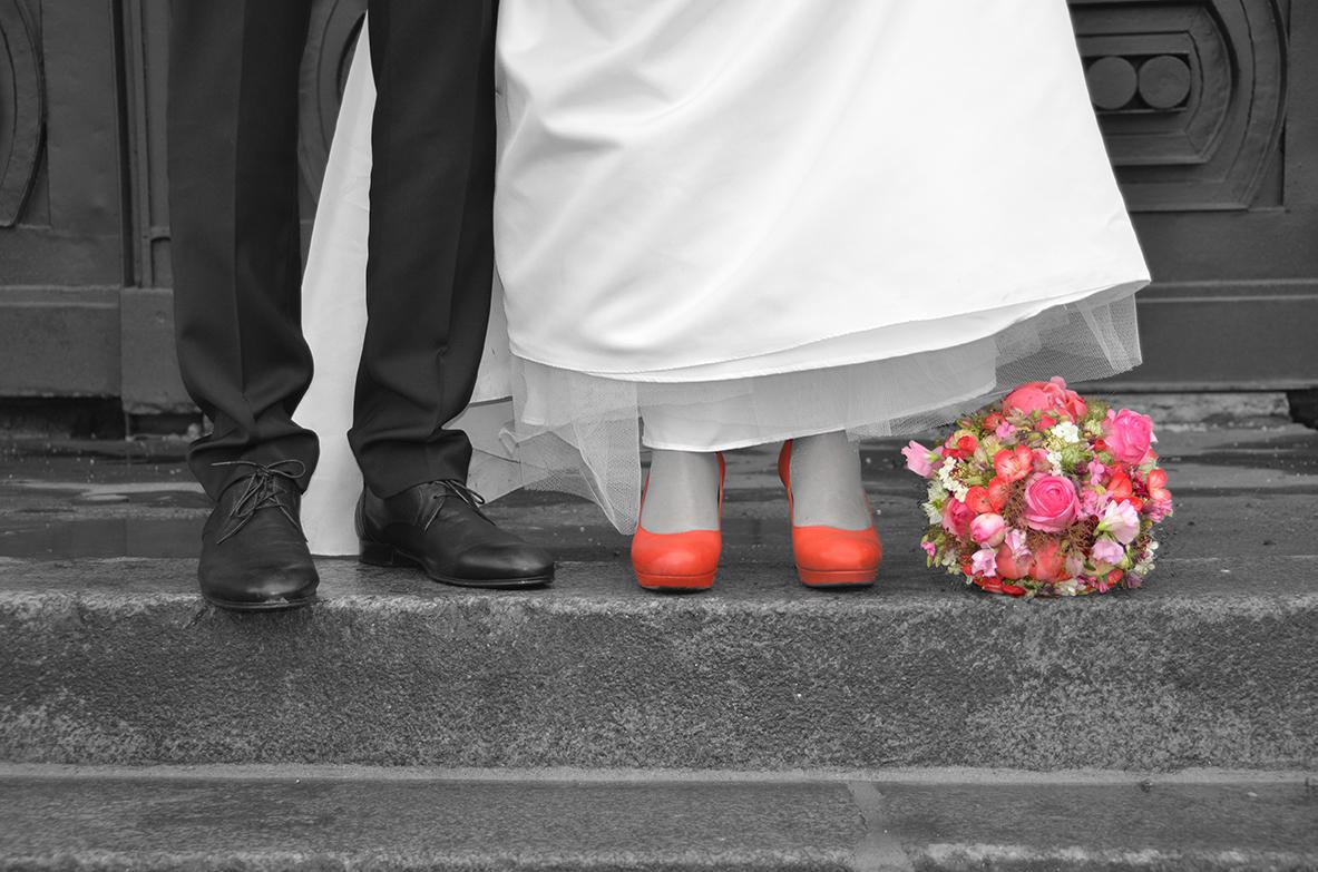 Verheiratete Füße