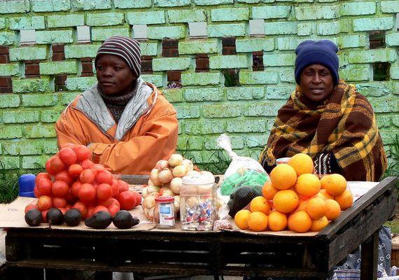 Verkaufsstand in Pretoria