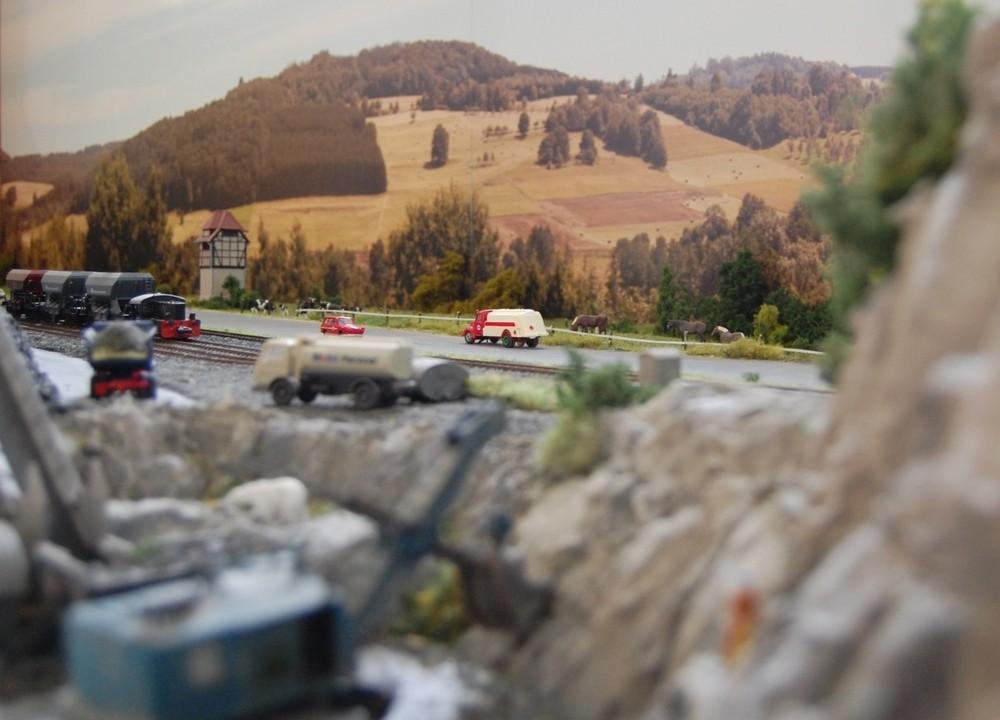 Verkehr am Steinbruch