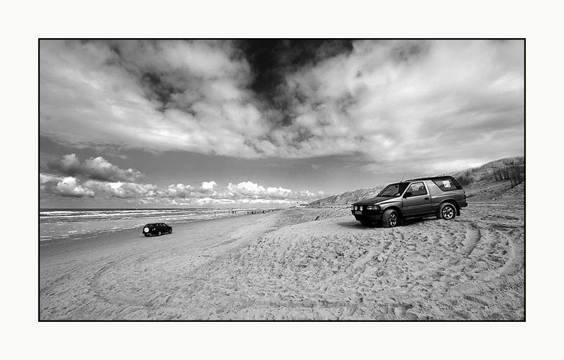Verkehr am Strand..
