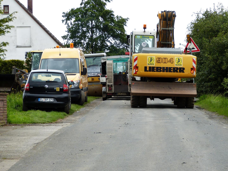 Verkehrsstau Handwerkerstr Werste