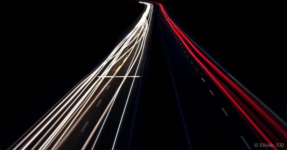 Verkehrsströme der Nacht