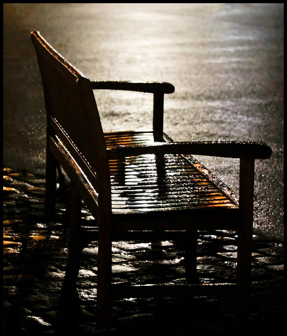 Verlassen im Regen