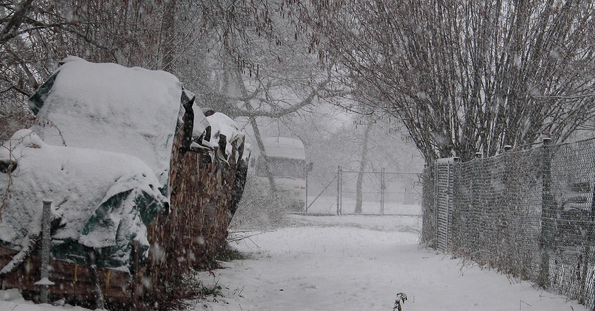 Verlassen im Schnee