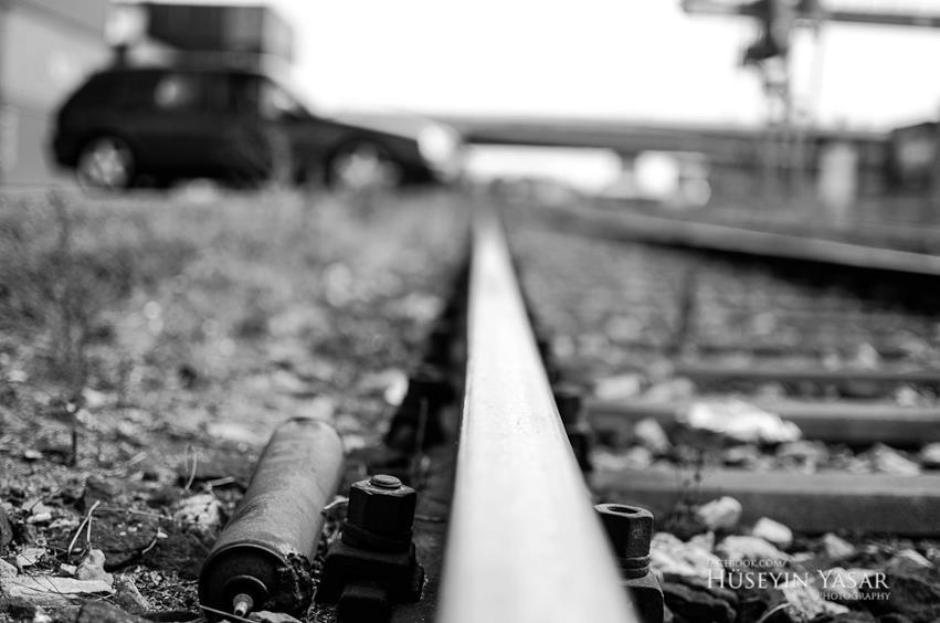 Verlassene Eisenbahnschiene