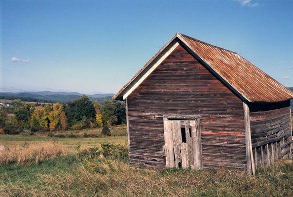 Verlassene Hütte in Vermont
