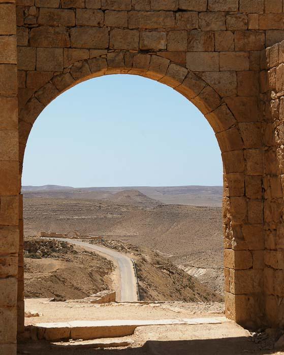 Verlassene Wüstenstadt