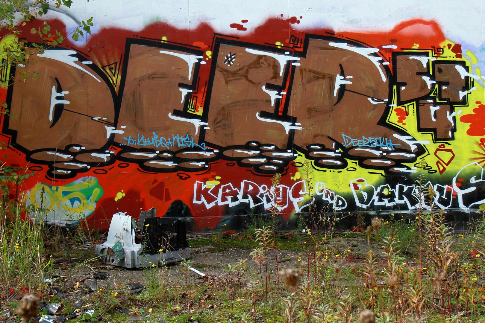 Verlassenes Bahnhofsgelände Graffiti 3