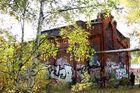 Verlassenes Bahnhofsgelände Graffiti 4