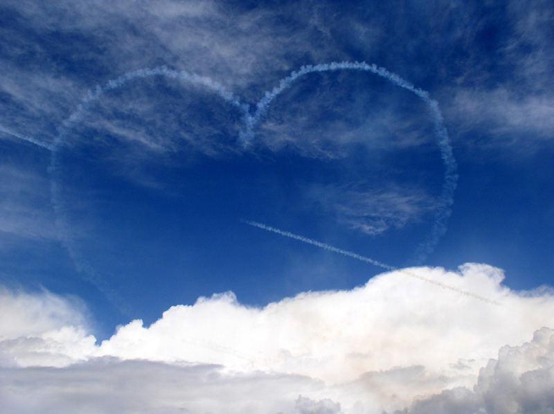 Verliebte Piloten nach einem Hormonschub?