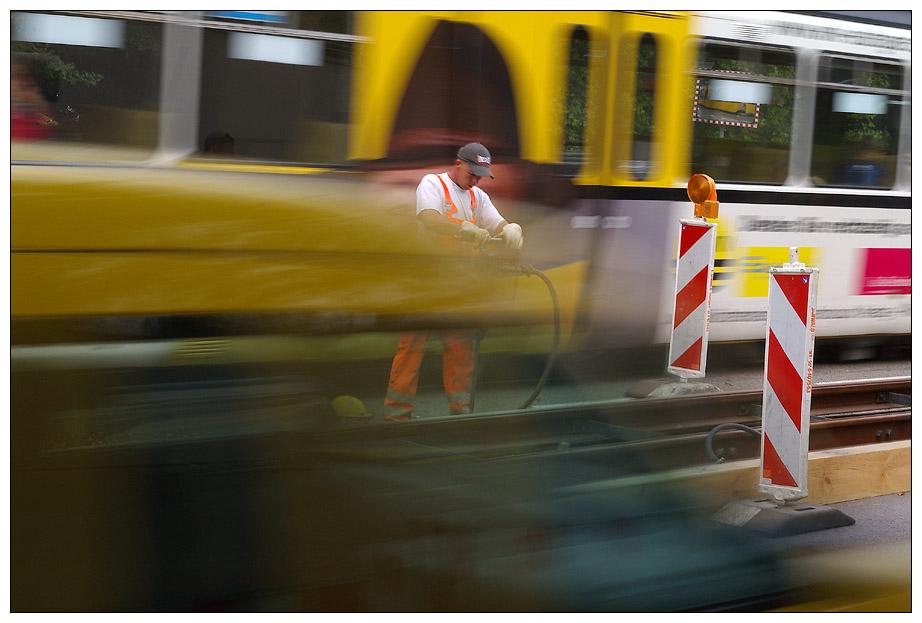 Verloren brausenden Verkehr