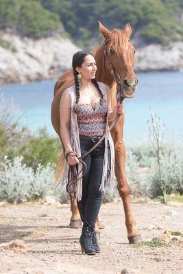 Veronica mit Pferd
