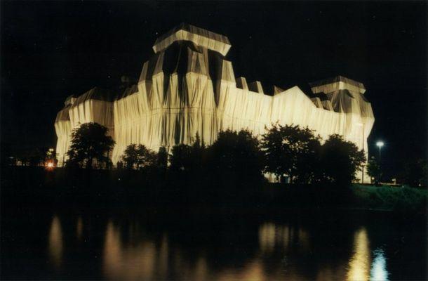 Verpackter Reichstag, verhüllt, verhüllter, Christo, Berlin, wrapped