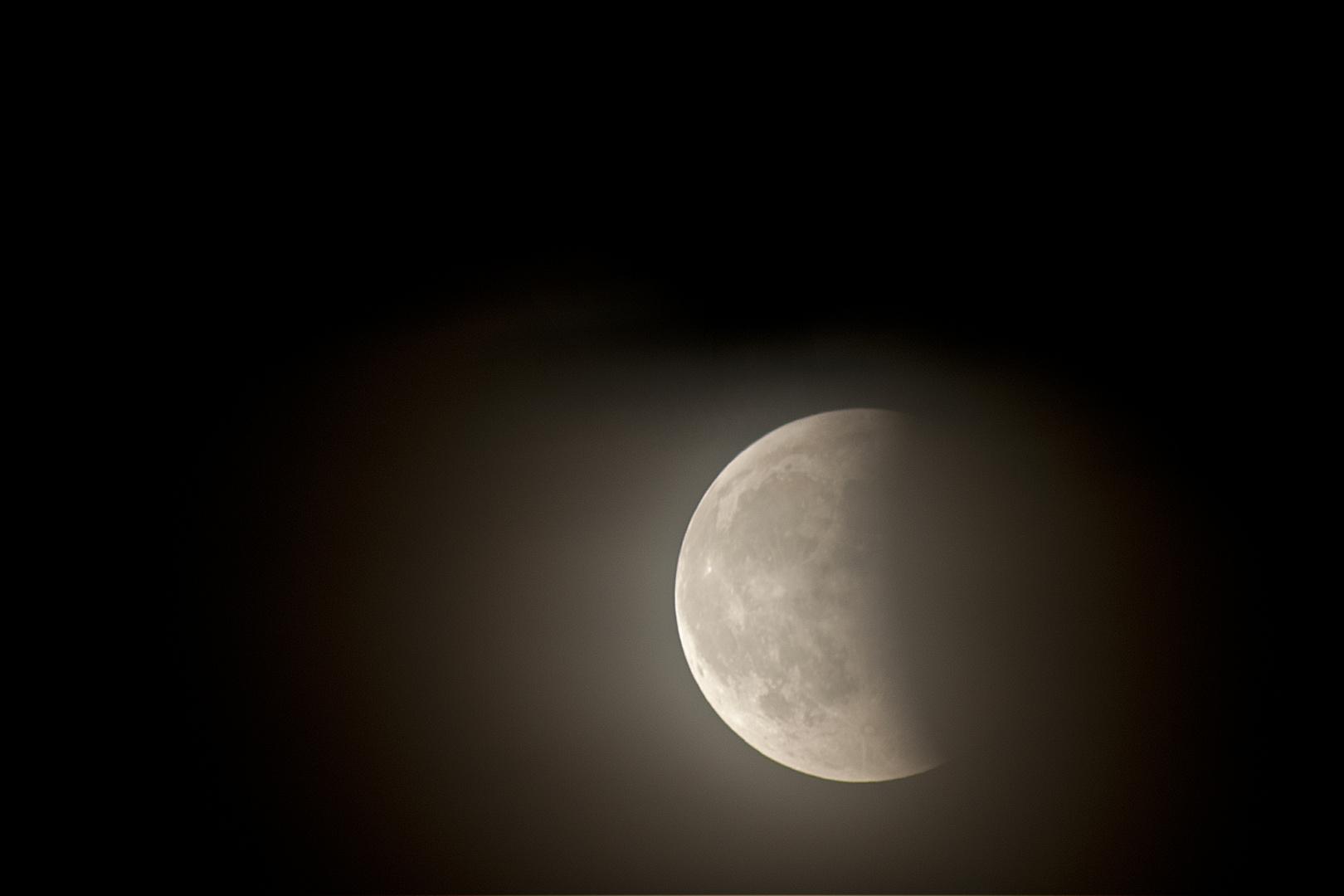 verregnete Mondfinsternis