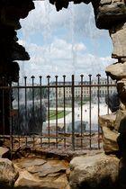 Verregneter Blick auf das Schloss Schönbrunn