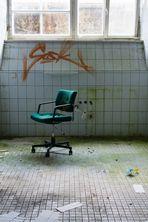 Verrottender Bürostuhl