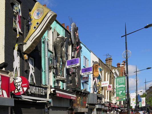 Verrückte Camden Town - Geschäfte an der High Street