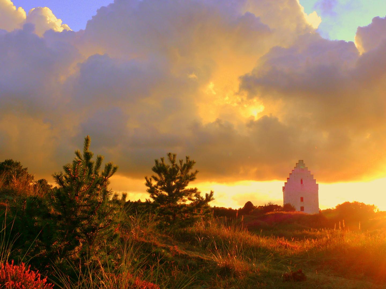 versandete Kirche in Jütland