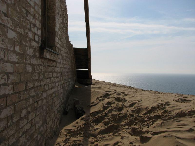 versandete Ruine an norddänischer Küste