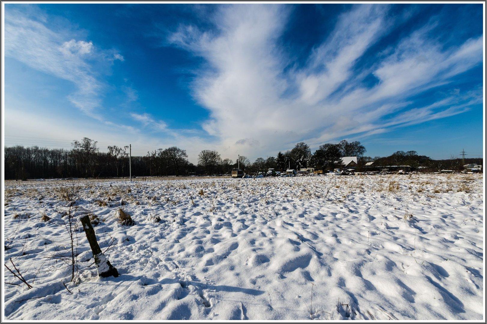 Verschneite Felder
