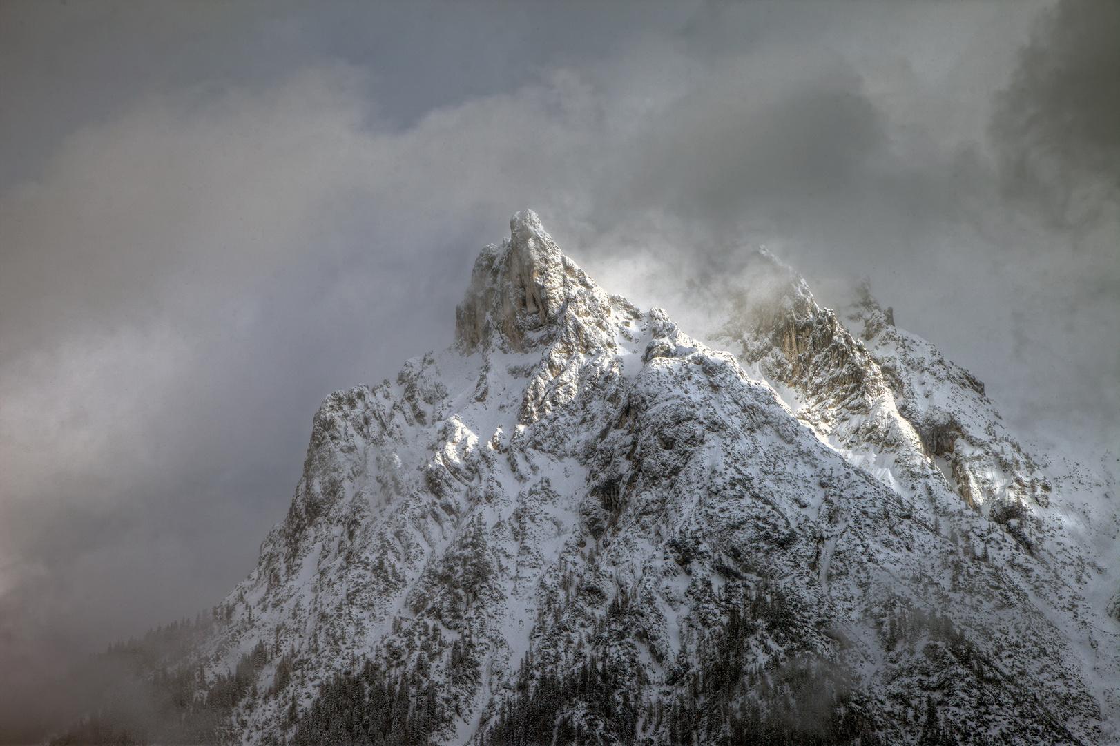 verschneite Viererspitze