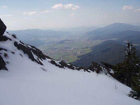Verschneiter Grat am Osser, Bayerischer Wald