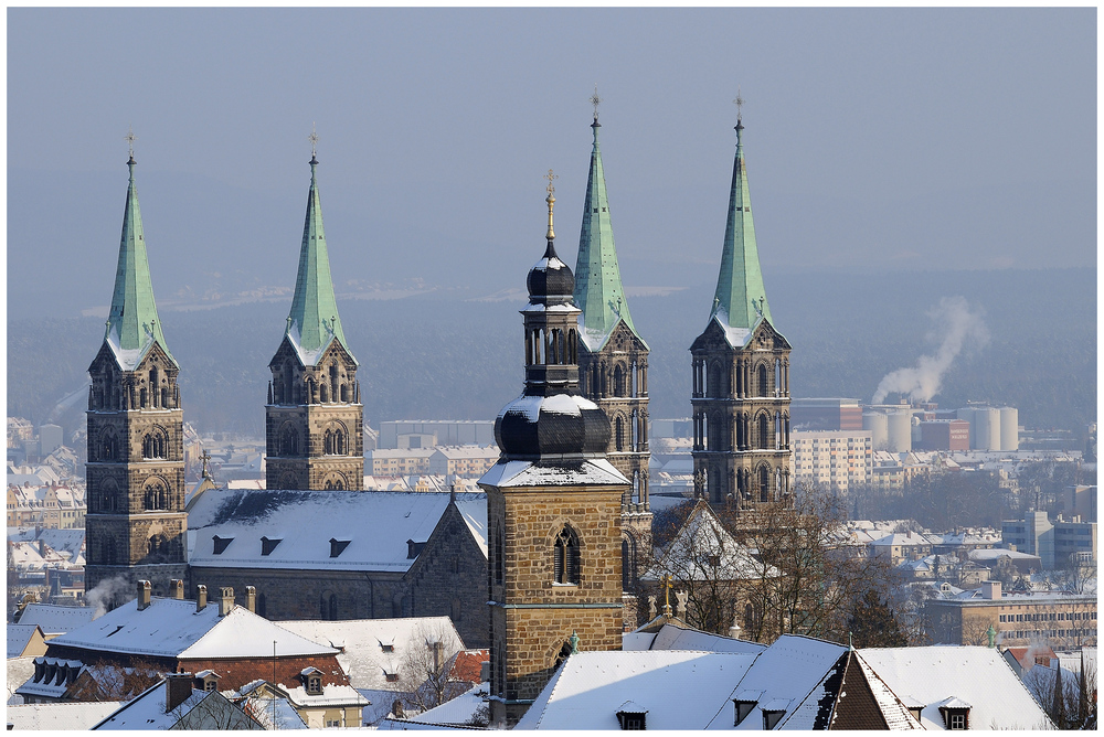 Verschneites Bamberg