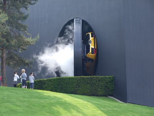 verschwindender Lamborghini