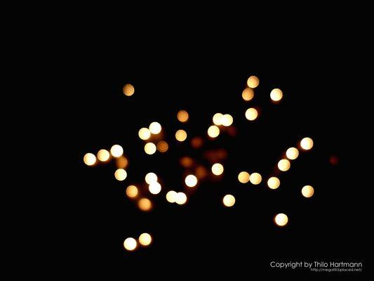 Verschwommene Lichtpunkte