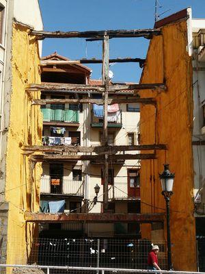 Verschwundenes Haus im Baskenland