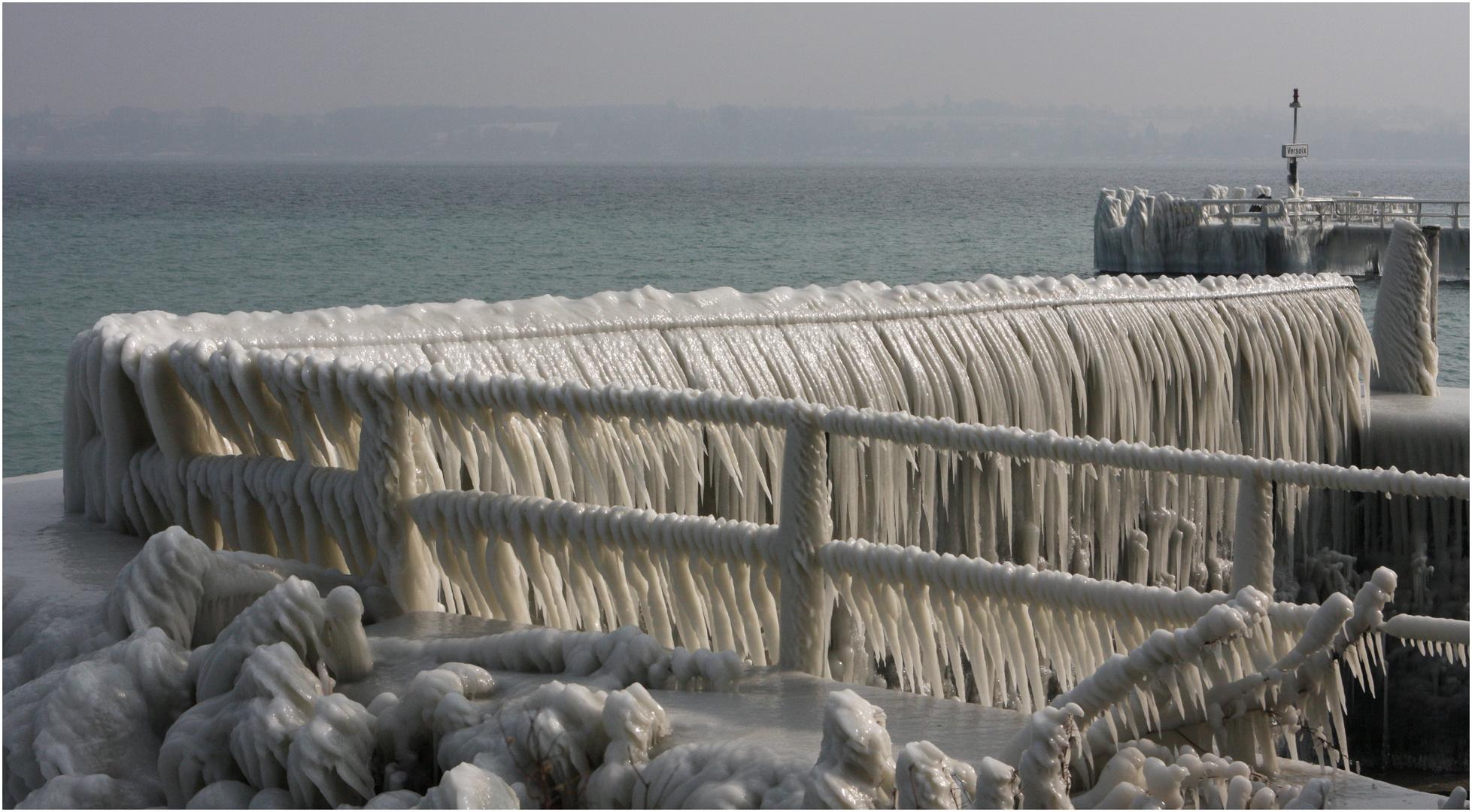 Versoix... total vom Eis erobert...