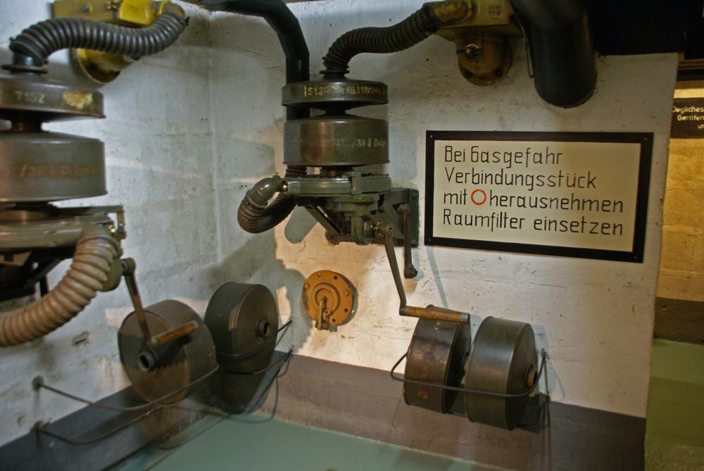 Versorgungsraum im Hochbunker